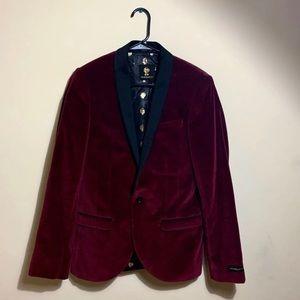 Mens Red Velvet Jacket